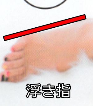 篠崎愛の浮き指
